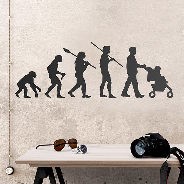 Wall Stickers: Evolution dad
