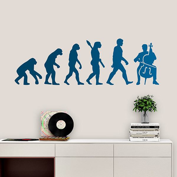 Wall Stickers: Violoncello evolution