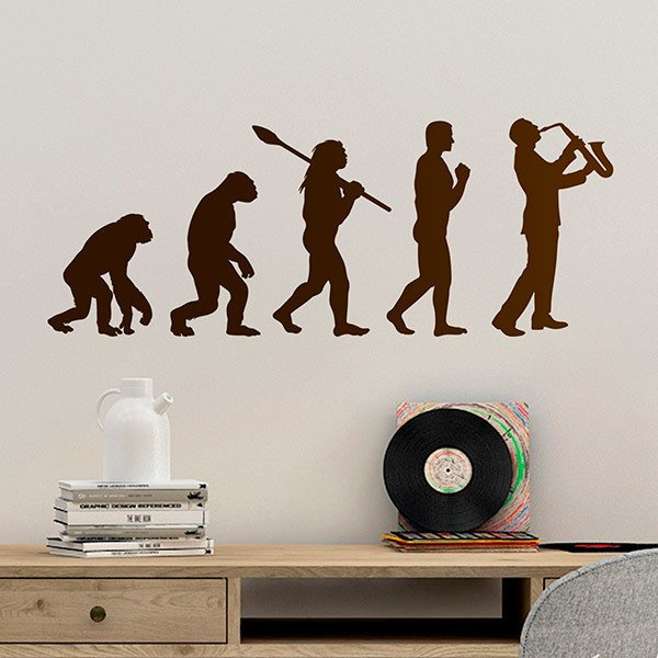 Wall Stickers: Saxophone evolution