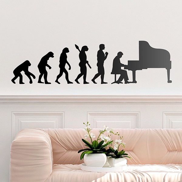 Wall Stickers: Evolution of the grand piano
