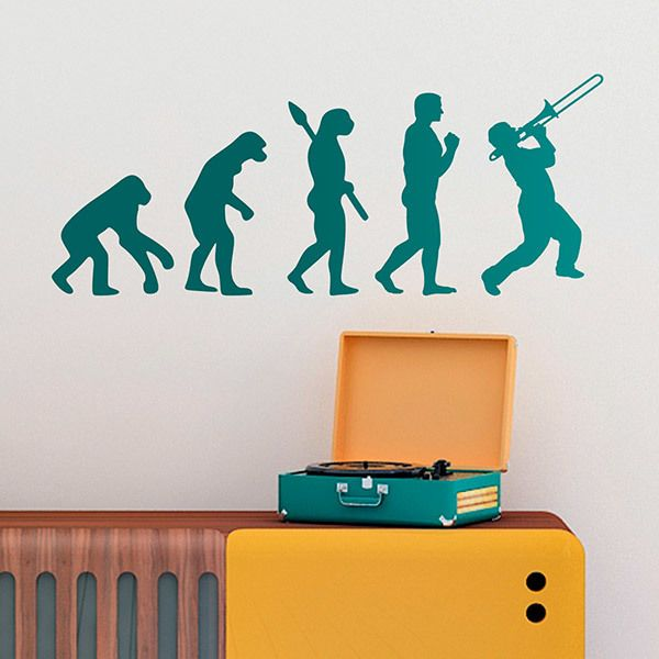 Wall Stickers: Trombonist Evolution