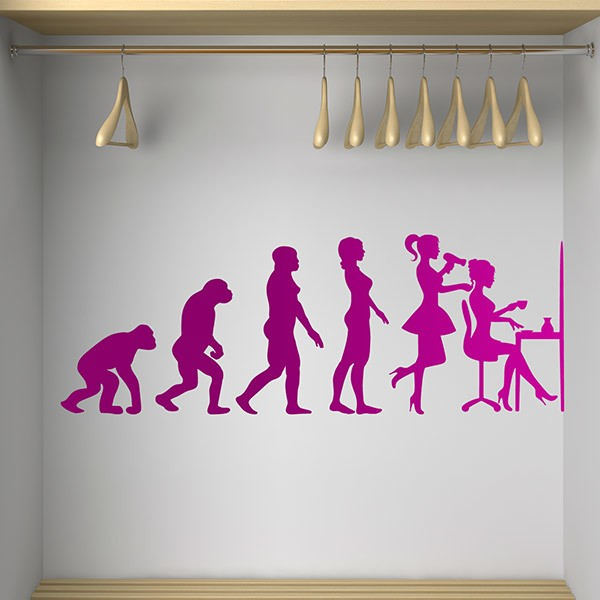 Wall Stickers: Evolution of the beauty salon