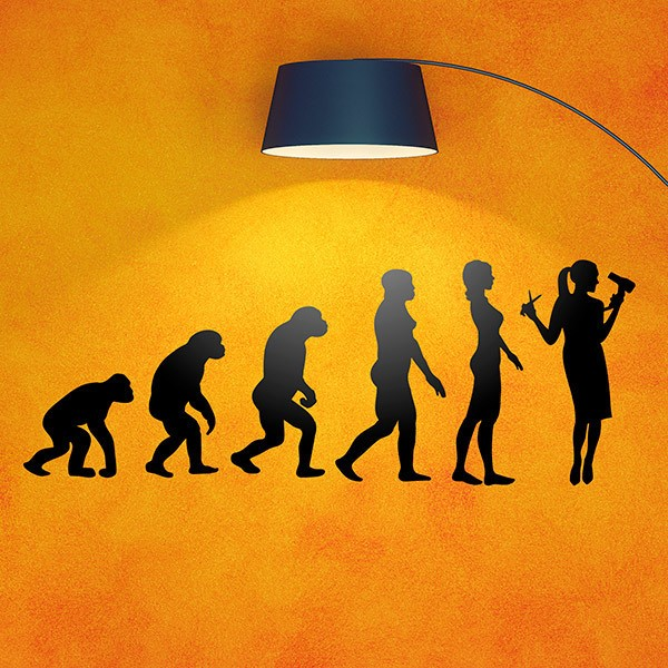 Wall Stickers: Hairdressing evolution