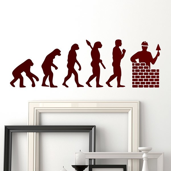 Wall Stickers: Evolution bricklayer