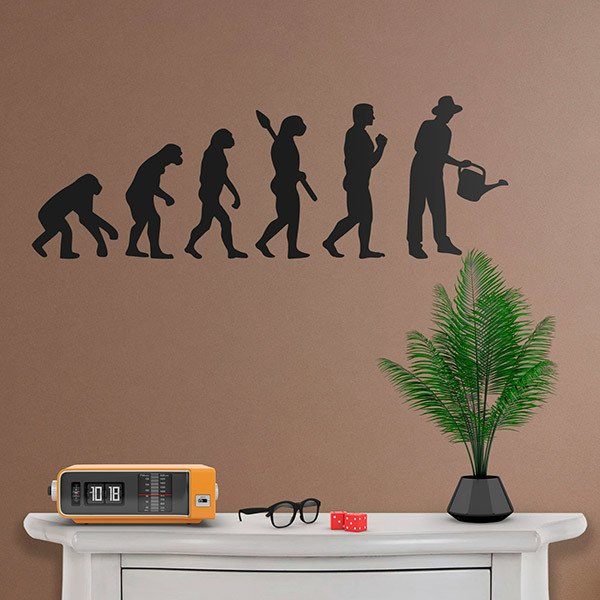 Wall Stickers: Evolution of the gardener