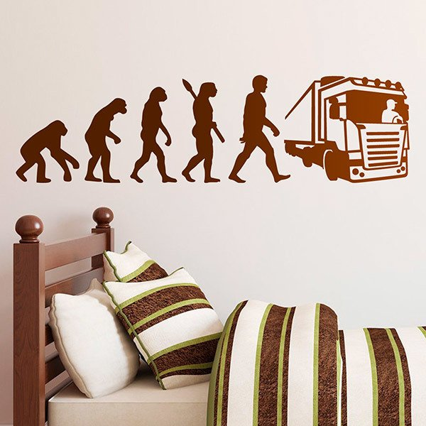 Wall Stickers: Truck Driver Evolution
