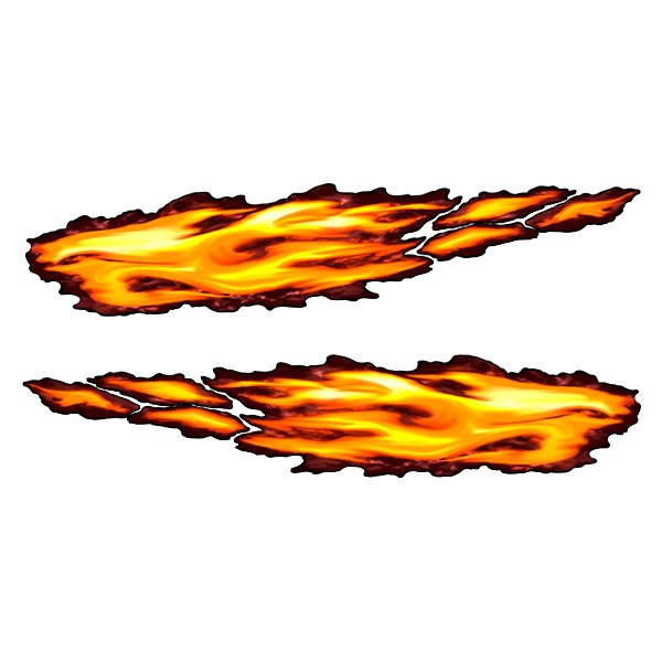 Car & Motorbike Stickers: Fire flame color