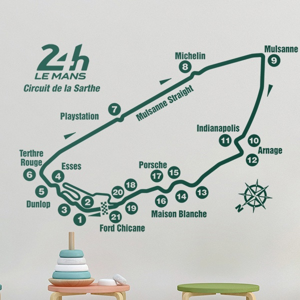 Wall Stickers: Circuit 24H Le Mans