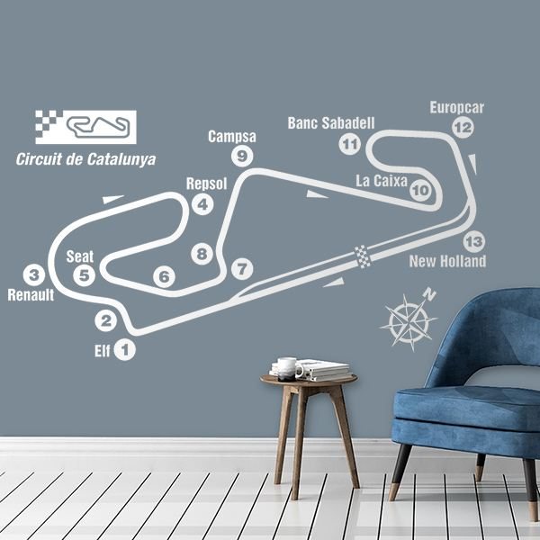 Wall Stickers: Circuit of Catalonia