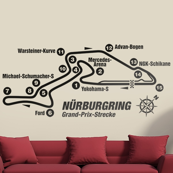 Wall Stickers: Nurburgring Circuit