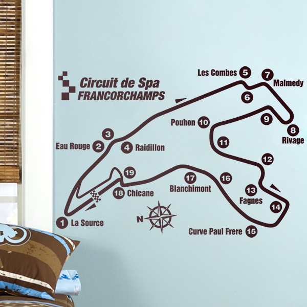 Wall Stickers: Circuit of Spa-Francorchamps