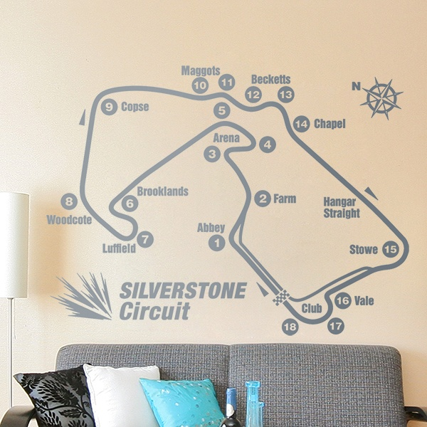 Wall Stickers: Silverstone circuit