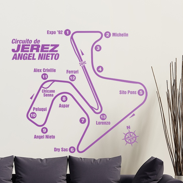 Wall Stickers: Jerez Circuit - Ángel Nieto