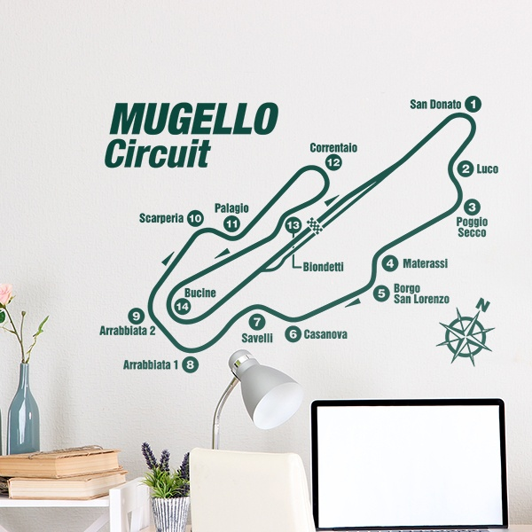 Wall Stickers: Mugello Circuit