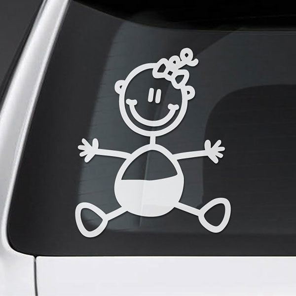Car & Motorbike Stickers: Baby girl