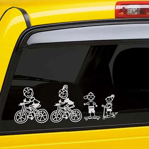 Car & Motorbike Stickers: Girl doing pine