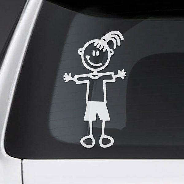 Car & Motorbike Stickers: Loving girl