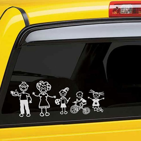Car & Motorbike Stickers: Gymnast girl