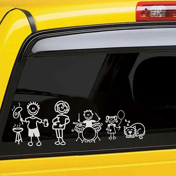 Car & Motorbike Stickers: Girl listening to music