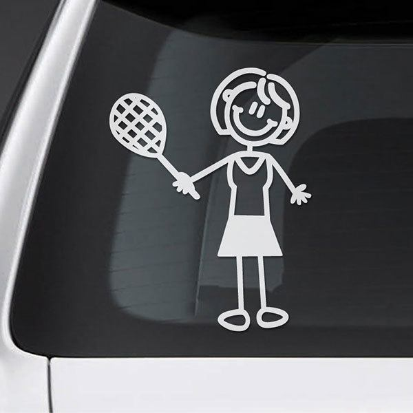 Car & Motorbike Stickers: Tennis mom