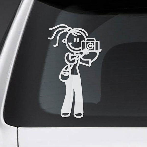 Car & Motorbike Stickers: Mama photographer