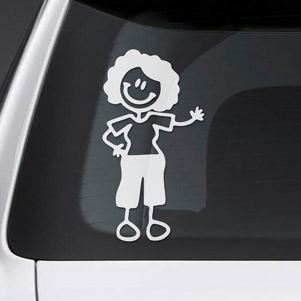 Car & Motorbike Stickers: Mom waving