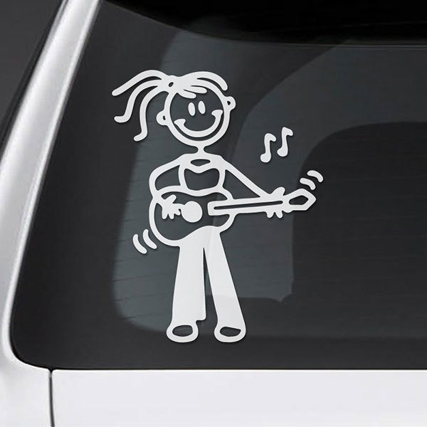 Car & Motorbike Stickers: Mom playing the guitar