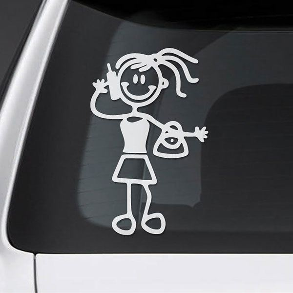 Car & Motorbike Stickers: Mom talking on the mobile