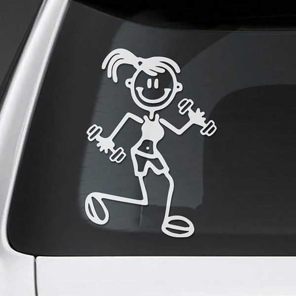 Car & Motorbike Stickers: Gymnastics mom