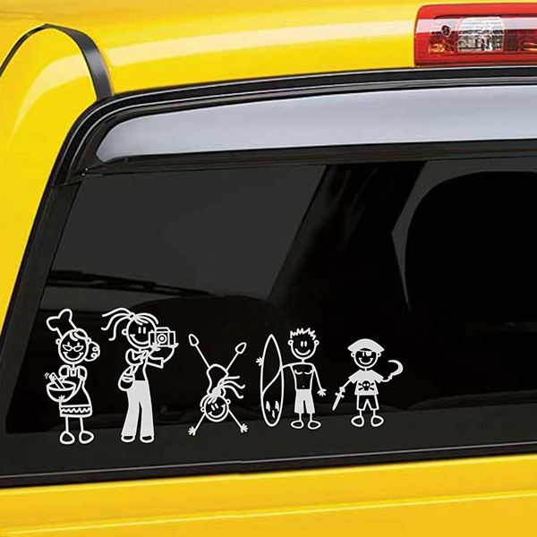 Car & Motorbike Stickers: Child with toy car