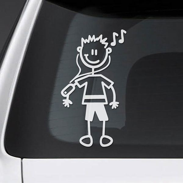 Car & Motorbike Stickers: Boy Runner