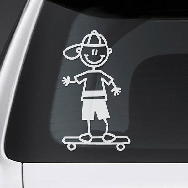 Car & Motorbike Stickers: Boy on Skateboard
