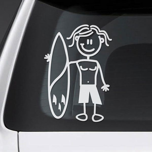 Car & Motorbike Stickers: Surfer child