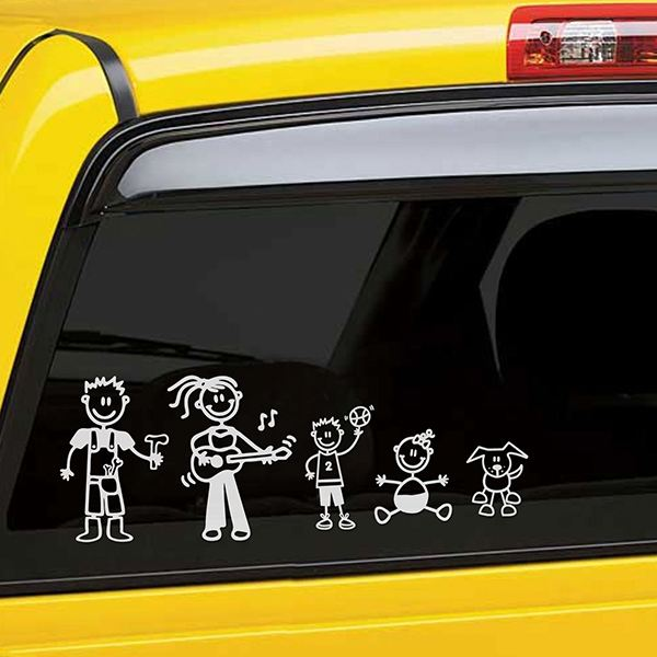 Car & Motorbike Stickers: Boy playing drums