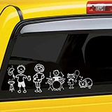 Car & Motorbike Stickers: Boy playing drums 4