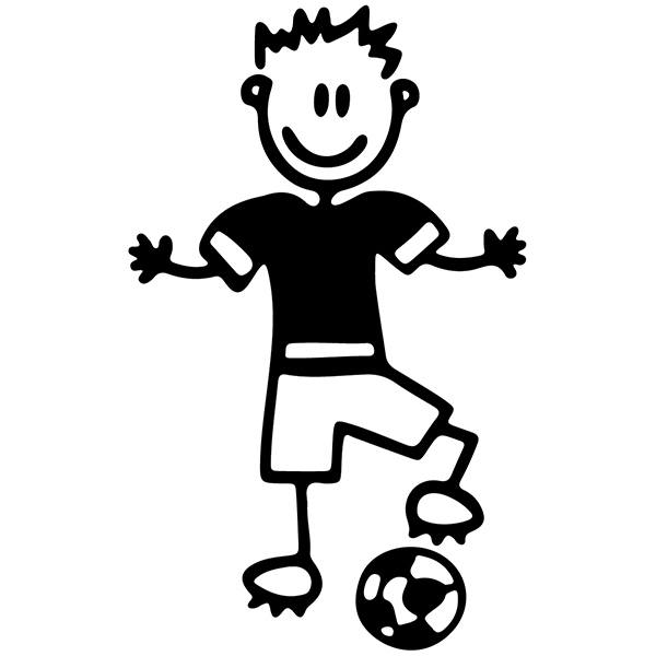 Car & Motorbike Stickers: Boy playing football