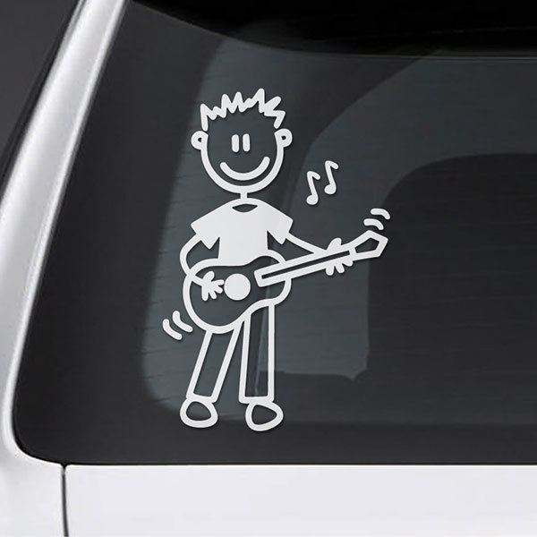 Car & Motorbike Stickers: Dad playing the guitar