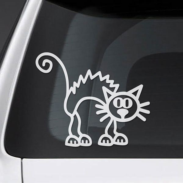 Car & Motorbike Stickers: Enraged cat 0