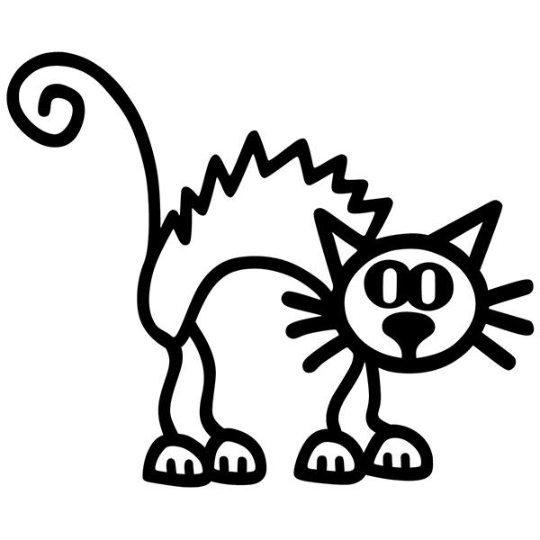Car & Motorbike Stickers: Enraged cat