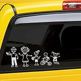 Car & Motorbike Stickers: Cat welcoming 5