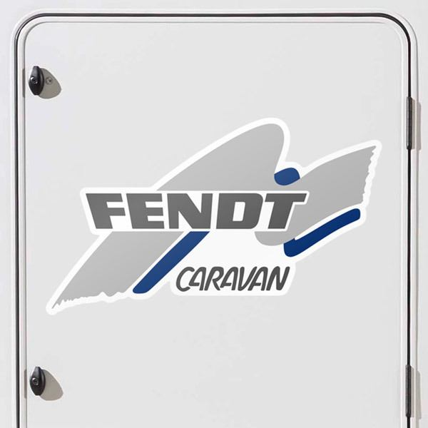 Car & Motorbike Stickers: Fendt Caravan blue