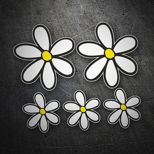 Wall Stickers: Kit of 5 flowers margarita surf