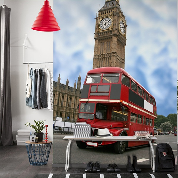 Wall Murals: Big Ben and British bus