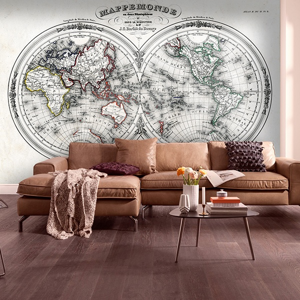 Wall Murals: Map of the World 1848