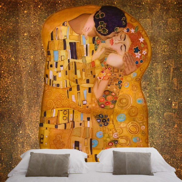 Wall Murals: The kiss, by Gustav Klimt