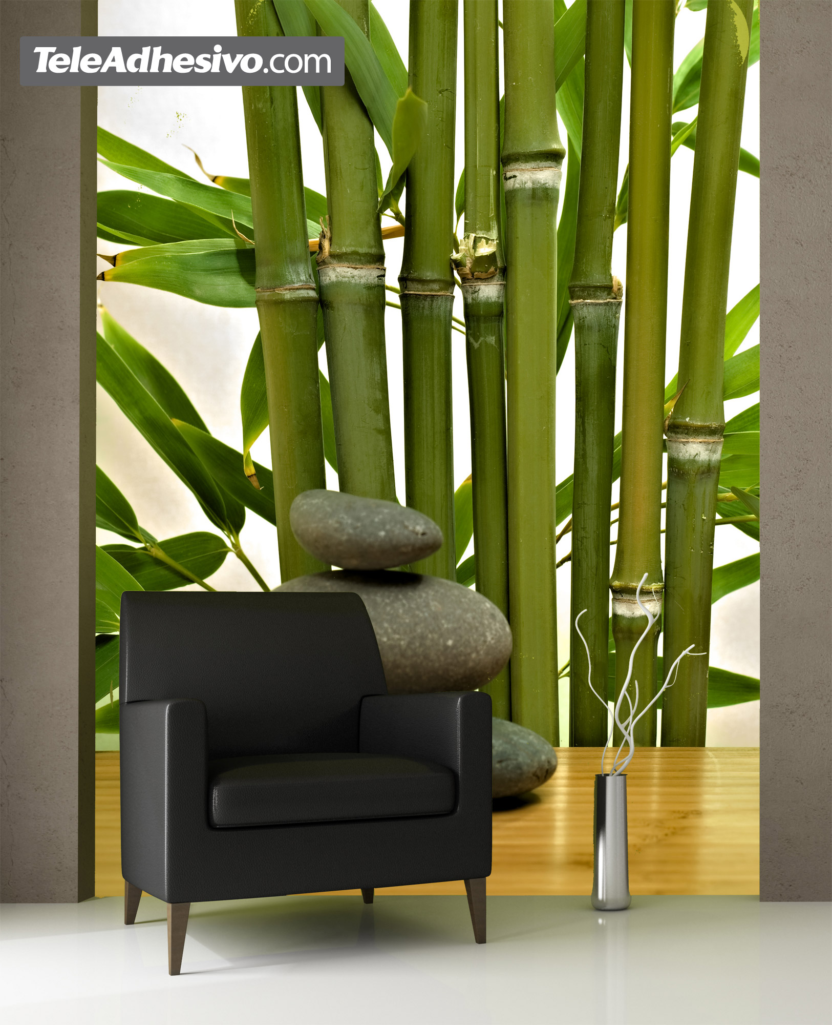 Bamboo and stones for Bamboo mural walls