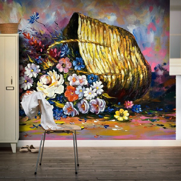 Wall Murals: Flowers in the basket