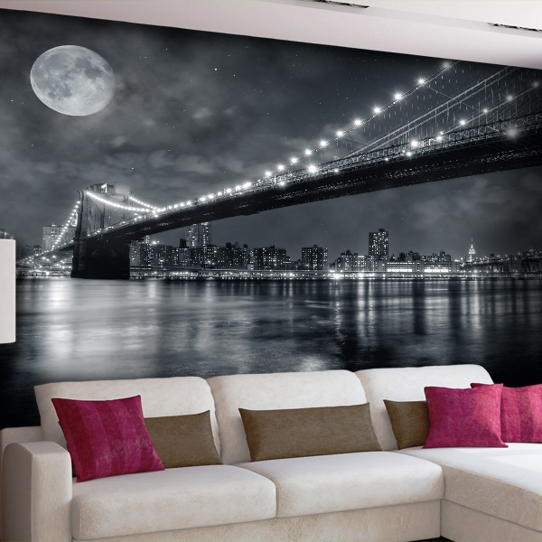 Wall Murals: Nightly Brooklyn Bridge
