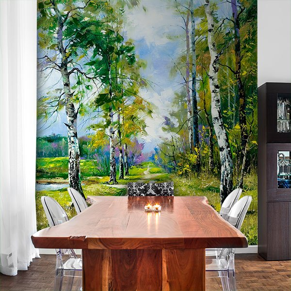 Wall Murals: Forest illustration