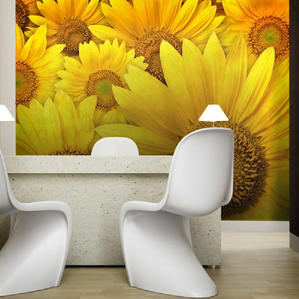 Wall Murals: Sunflowers
